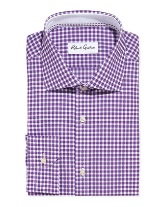 Hank Gingham Dress Shirt, Purple