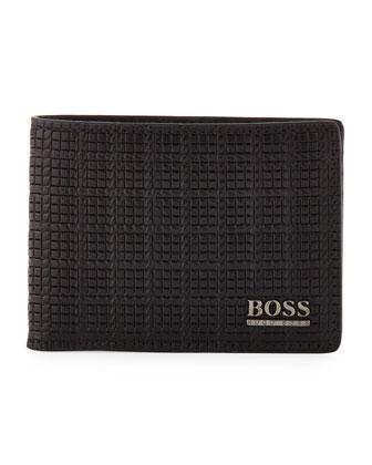 Woven-Embossed Bi-Fold Wallet