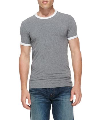 Jersey Ringer T-Shirt, Gray