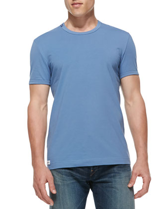 Calcio Round-Neck Tee, Blue