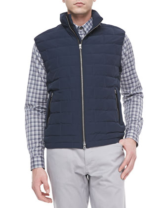 Luga Quilted Vest in Clintwood, Eclipse