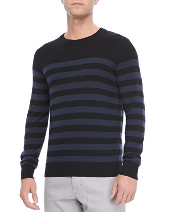 Riland PS Sweater in Aerocash, Navy Stripe