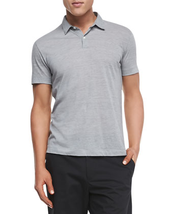 Bron LSP Polo in Lead Stripe, Light Gray