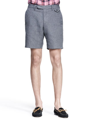 Hopsack Citi Shorts, Gray