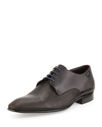 Newport Textured Lace-Up, Black