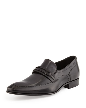 Cellios Logo Plaque Loafer, Black