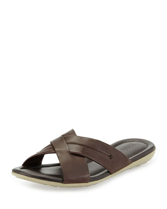 Palman Cross-Strap Sandal, Brown
