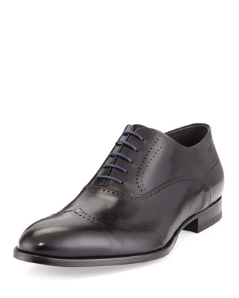 Gennot Perforated Wing-Tip, Black