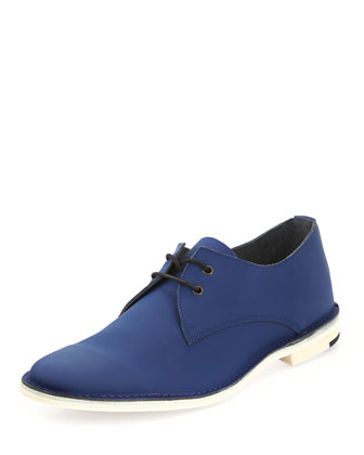 Gum-Leather Lace-Up Shoe, Blue