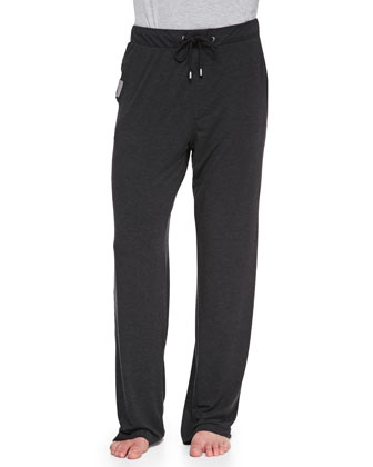 Jersey-Knit Lounge Pants, Gray