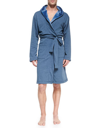 Lightweight Alsten Jersey Robe, Blue