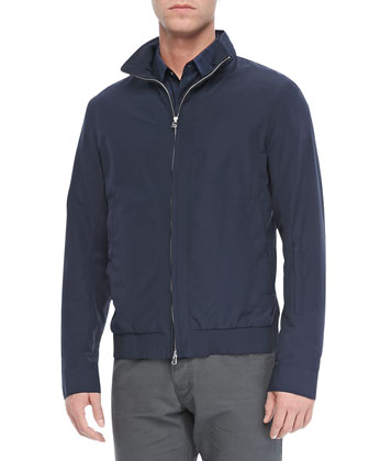 Grafft Zip Jacket in Clintwood, Eclipse