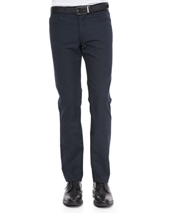 Haydin JE N Z Pants in Hanford Linen-Blend, Eclipse