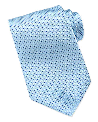 Textured Woven Silk Tie, Light Blue