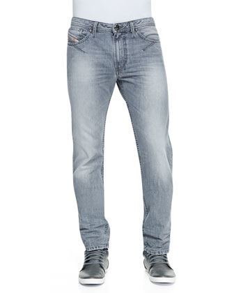 Shioner Slim-Fit Jeans, Light Gray