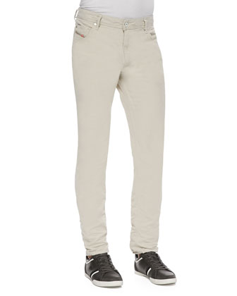 Krayver Linen-Blend Jeans, Natural