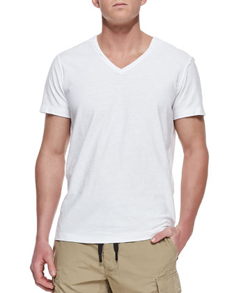 Reversed Slub Tee, White