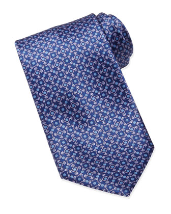 Micro Square Silk Tie, Purple