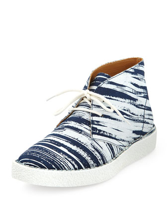 Nevada Denim Chukka Sneaker, White/Blue