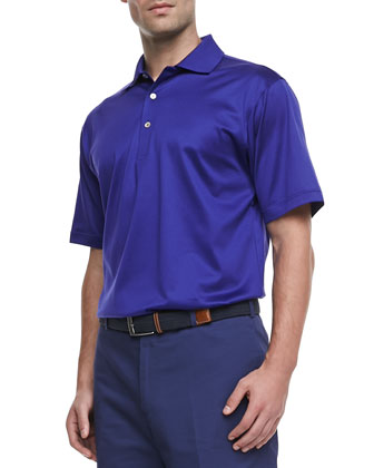 Lisle-Knit Polo, Purple