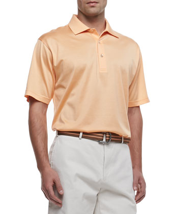 Lisle Short-Sleeve Polo, Orange