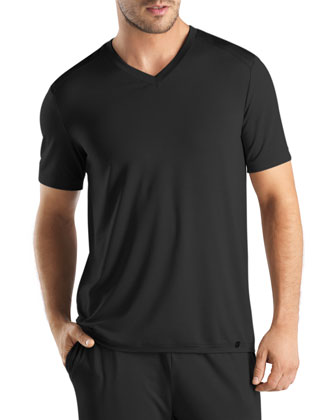 Harrison V-Neck Tee, Black