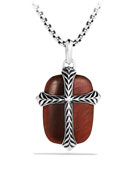 Chevron Cross Tablet with Red Tiger's Eye