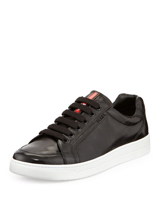 Avenue Men's Leather Low-Top Sneaker