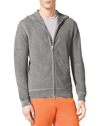 Thermal Zip Hoodie & Slim Twill Shorts