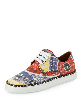 Canvas Low-Top Sneaker, Multicolor