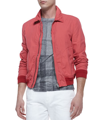 Lightweight Zip Blouson Jacket, Pink