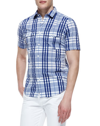 Poplin Check Short-Sleeve Shirt