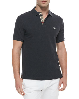 Modern Fit Short-Sleeve Polo Shirt, Gray
