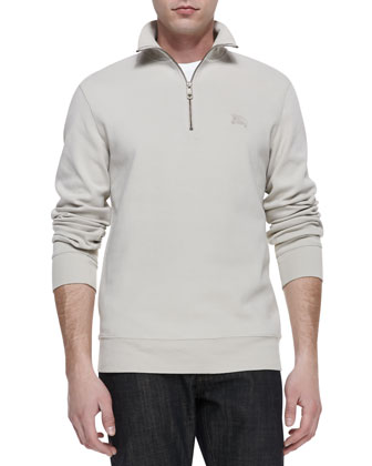 Half-Zip Jersey Pullover, Trench