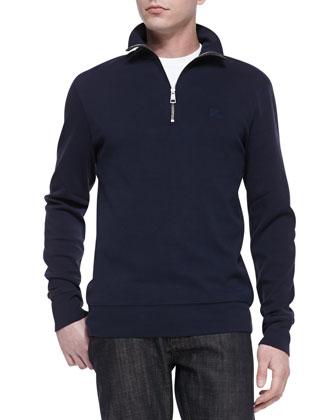 Half-Zip Jersey Pullover, Navy