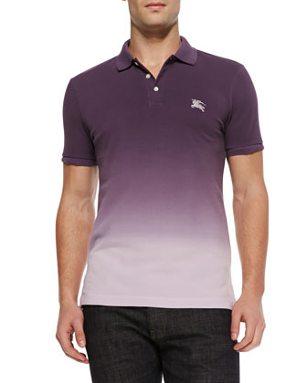 Ombre Equestrian Knight Polo, Grape