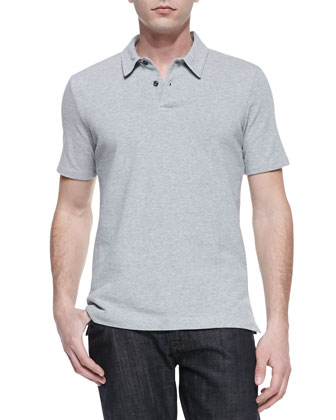 Check-Undercollar Polo, Gray