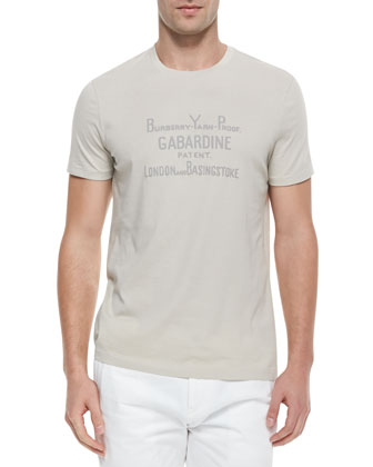 Heritage Text Print T-Shirt, Trench