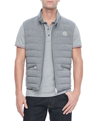 Gerard Cotton Puffer Vest, Gray