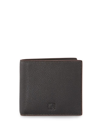Embossed Anagram Wallet, Black