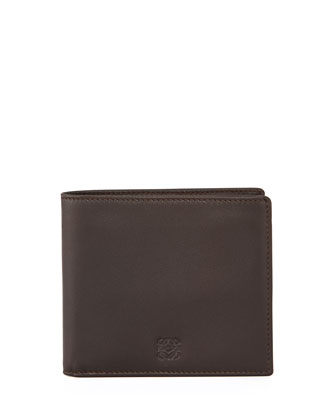 Soft Napa Leather Wallet, Brown