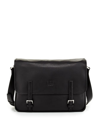 Men's Amazona Satchel Bag, Black