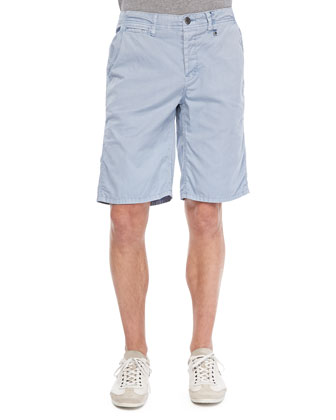 Hampton Cotton Walking Shorts, Sky Blue
