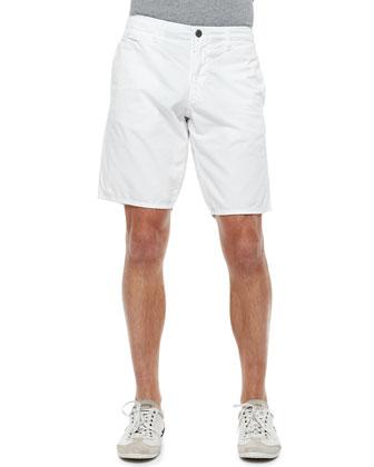St. Bart's Twill Shorts, White