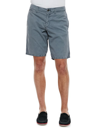 St. Bart's Twill Shorts, Light Gray