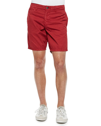 St. Bart's Twill Shorts, Red