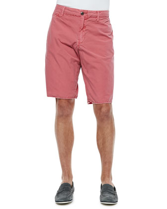 Seaside Cotton Shorts, Cranberry