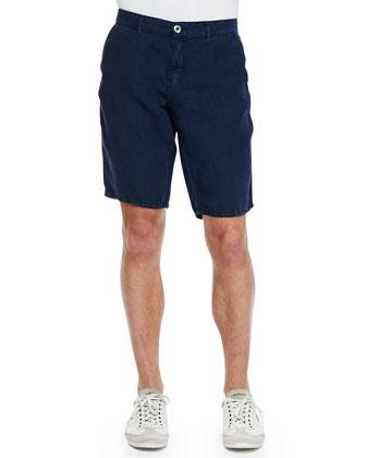 Havana Linen Shorts, Navy