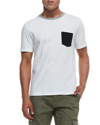 Colorblock Pocket Tee & Radar Distressed Cargo Pants