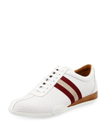 Low Top Leather Sneaker, White